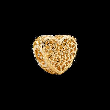 Charm Cœur en filigrane avec perles