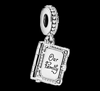 Family Book Dangle Charm