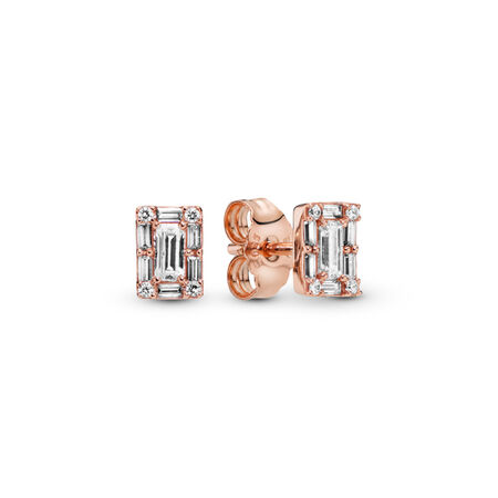 Luminous Ice Stud Earrings, PANDORA Rose™
