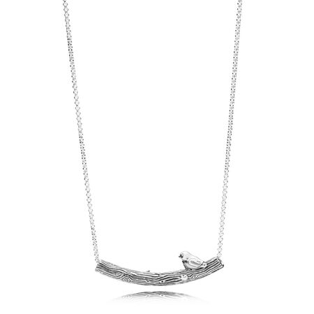 Limited Edition Spring Bird Curved Bar Necklace