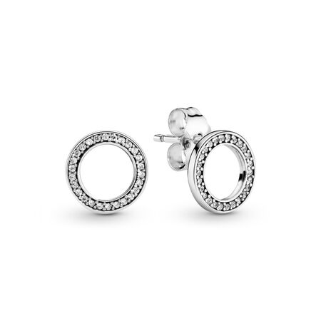 Forever PANDORA, Clear CZ, Sterling silver, Cubic Zirconia - PANDORA - #290585CZ
