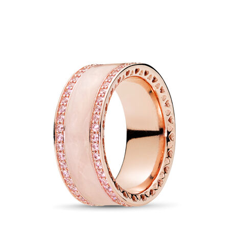 Hearts of PANDORA Ring, PANDORA Rose™ & Pink CZ