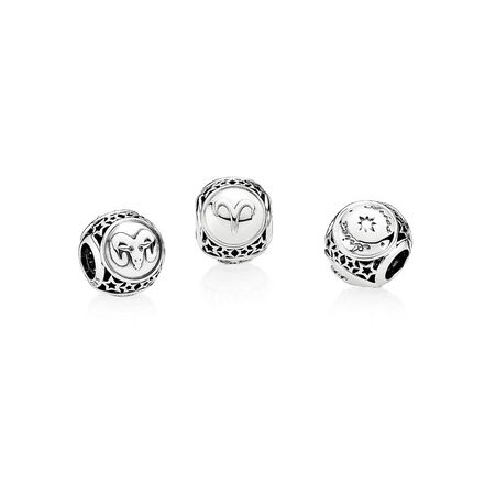 Aries Star Sign, Sterling silver - PANDORA - #791936