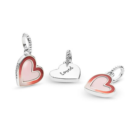Asymmetric Heart of Love Dangle Charm