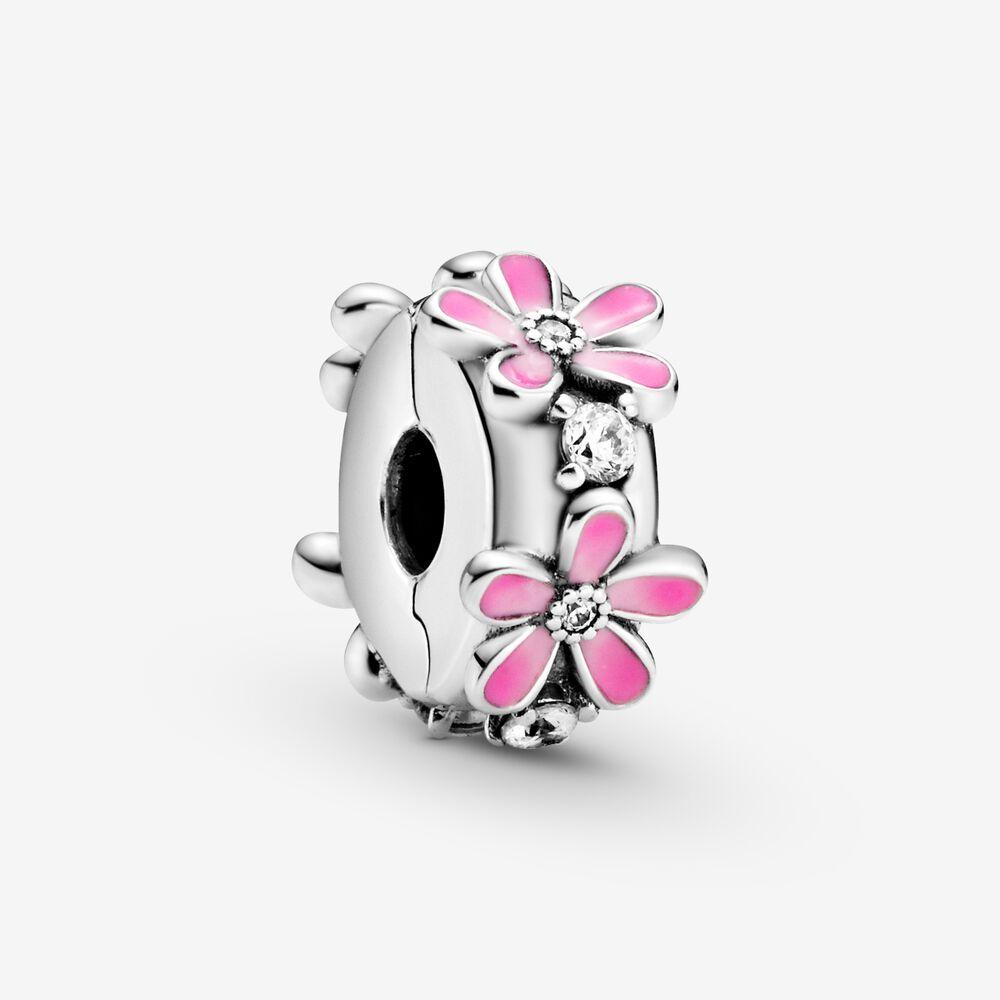 clip pandora argent rose