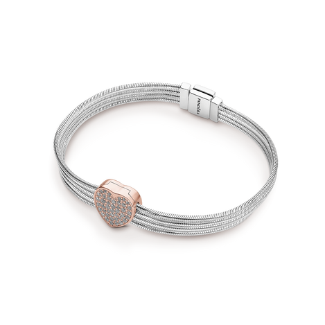 Pavé Heart Reflexions Bracelet Gift Set