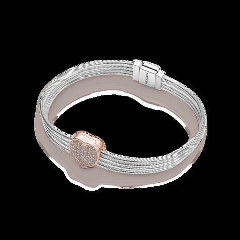 Ensemble-cadeau Bracelet Réflexions Pavé Coeur