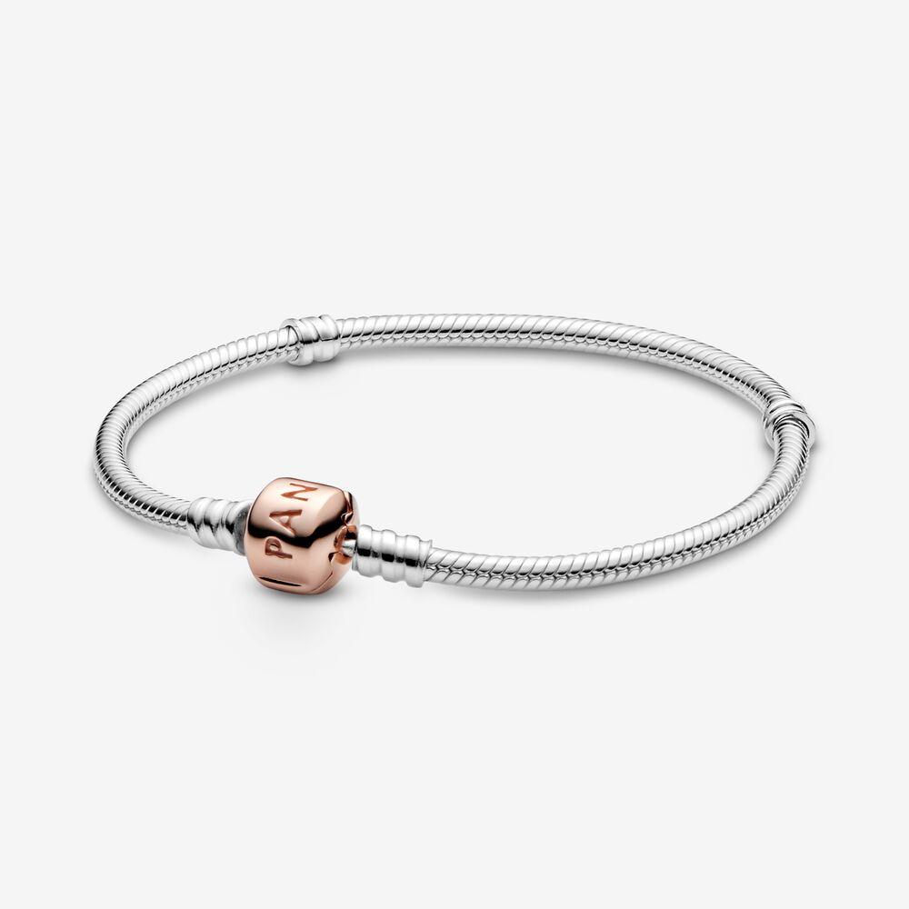 pandora rose gold bracelet padlock clasp moments bracelet