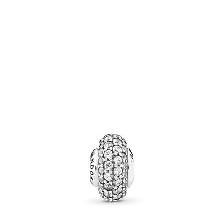 BALANCE, Clear CZ, Sterling silver, Silicone, Cubic Zirconia - PANDORA - #796088CZ