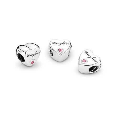 L'amour d'une fille, cz rose poudré, Argent sterling, Aucun autre matériel, Rose, Zircon cubique - PANDORA - #791726PCZ