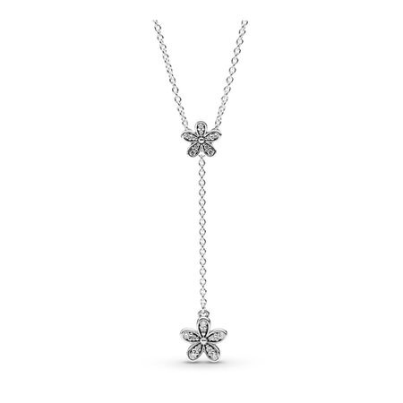 Dazzling Daisies, Clear CZ, Sterling silver, Cubic Zirconia - PANDORA - #590540CZ