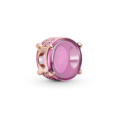 Pink Oval Cabochon Charm