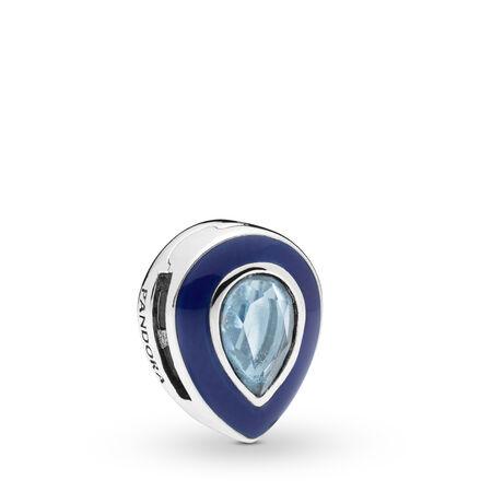 Charm Gouttelette bleue éblouissante Pandora Reflexions