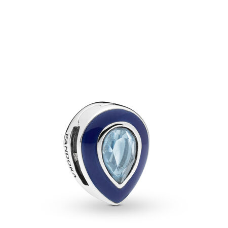 Pandora Reflexions™ Dazzling Blue Droplet Charm