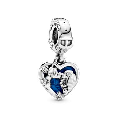 Disney Lady and the Tramp Heart Dangle Charm