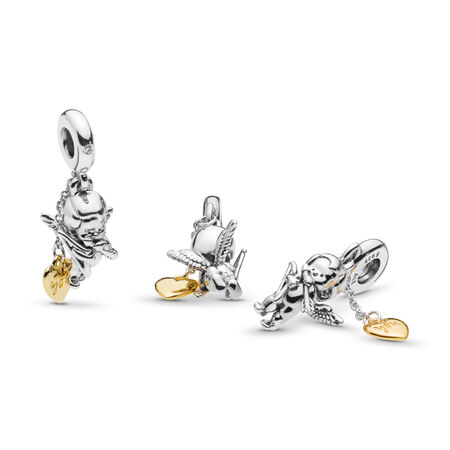 Cupid & You Dangle Charm, PANDORA Shine and sterling silver, Cubic Zirconia - PANDORA - #767796CZ