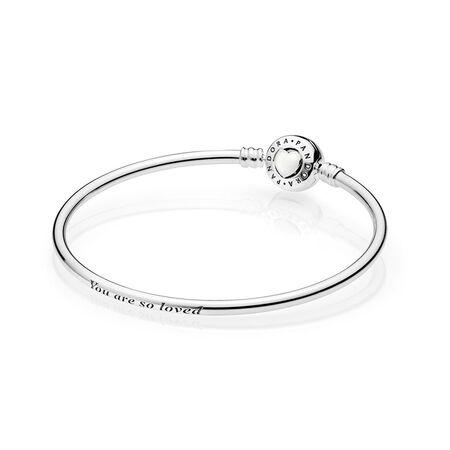 Loving Heart Bracelet, Silver Enamel