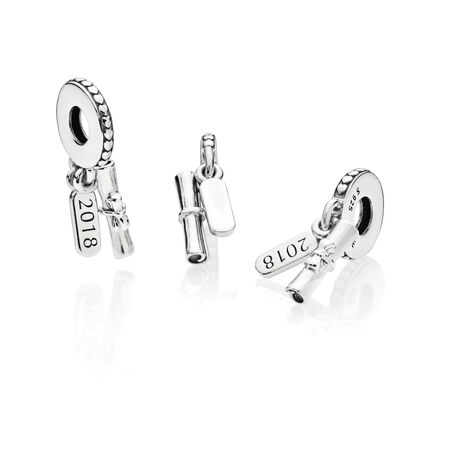 Graduation Scroll Dangle Charm