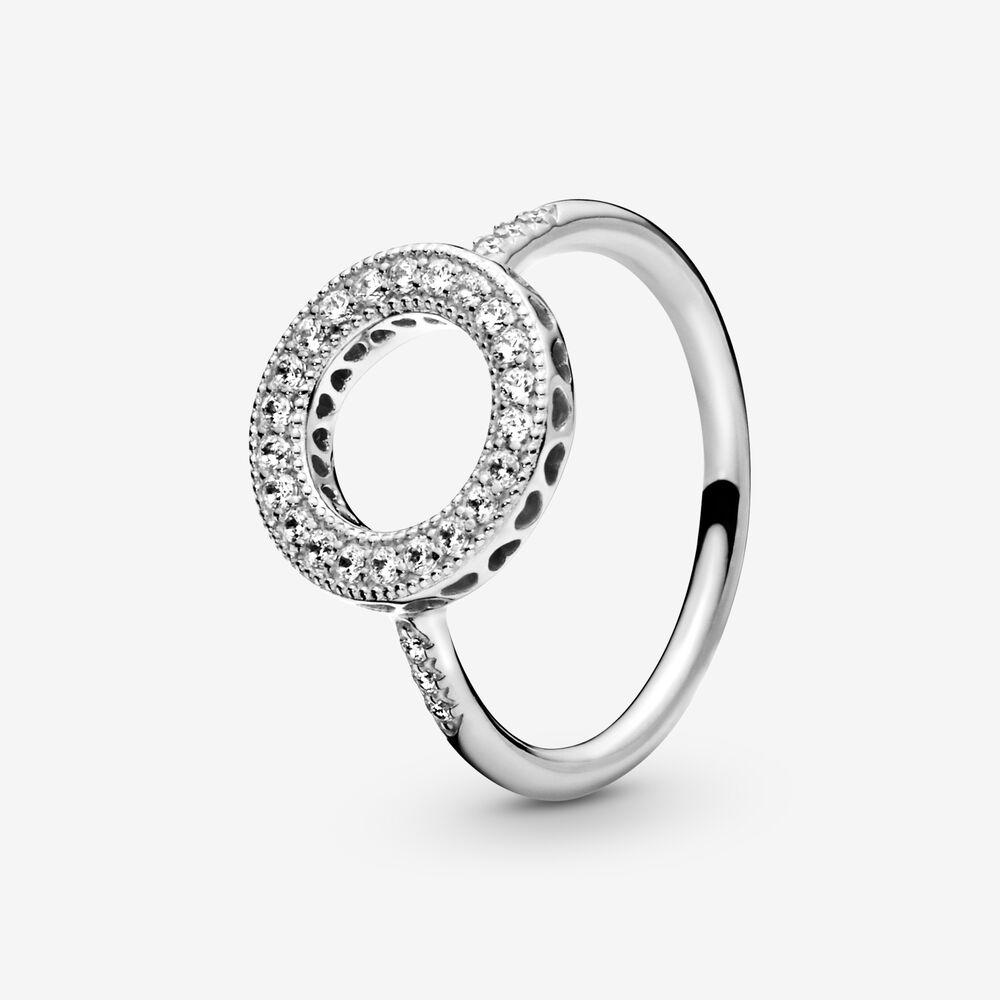 Sparkling Halo Ring | Sterling silver | Pandora Canada