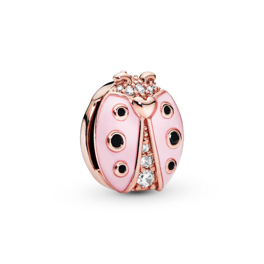 8bd21c6a9 Pandora Reflexions™ Pink Ladybug Charm, PANDORA Rose, Enamel, Black, Mixed  stones
