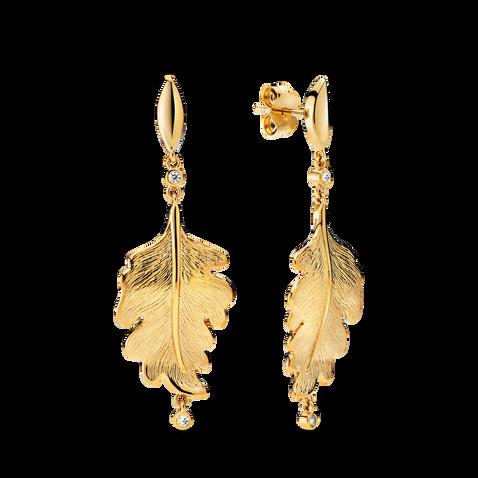 Boucles d'oreilles en forme de feuille de chêne