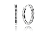 PANDORA Signature Earrings, Clear CZ