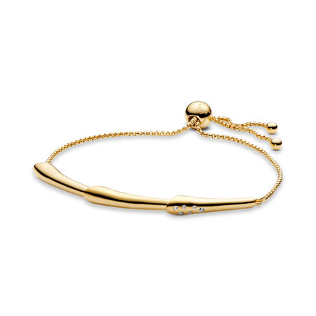 Flower Stem Sliding Bracelet