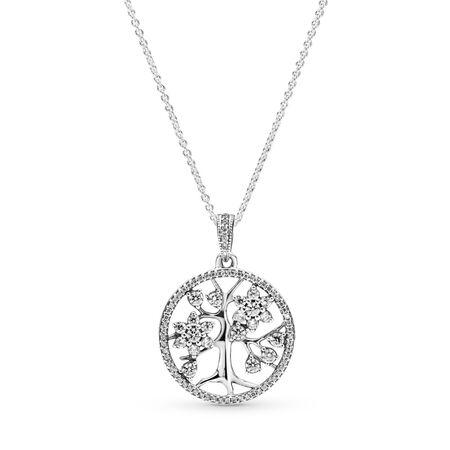 Family Tree, Clear CZ, Sterling silver, Cubic Zirconia - PANDORA - #390384CZ