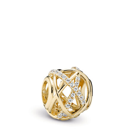 Galaxy, Clear CZ & 14K Gold, Yellow Gold 14 k, Cubic Zirconia - PANDORA - #750827CZ