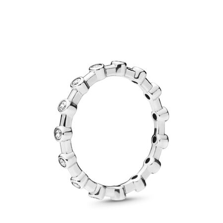 Dazzling Dots Ring, Clear CZ