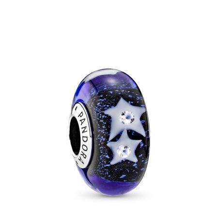 Starry Night Sky, Clear CZ, Sterling silver, Glass, Blue, Cubic Zirconia - PANDORA - #791662CZ