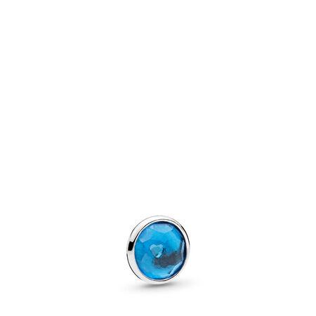 December Droplet Petite, London Blue Crystal, Sterling silver, Crystal - PANDORA - #792175NLB