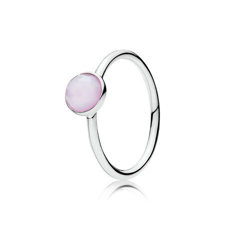 October Droplet, Opalescent Pink Crystal