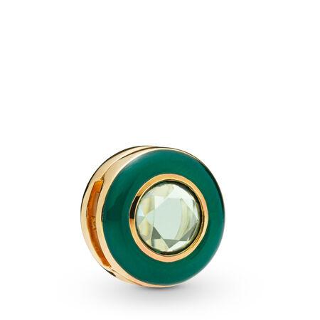 Charm Cercle vert radieux Pandora Reflexions