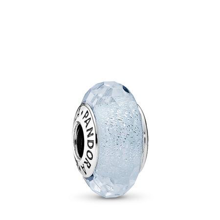 Scintillement menthe givrée, Argent sterling, Verre, Bleu, Aucune pierre - PANDORA - #791656