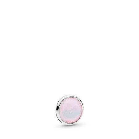 October Droplet Petite, Opalescent Pink Crystal, Sterling silver, Crystal - PANDORA - #792175NOP