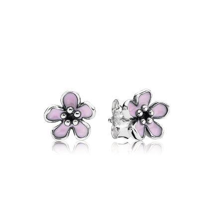 Fleurs de cerisier, émail rose pastel, Argent sterling, émail, Rose, Aucune pierre - PANDORA - #290537EN40