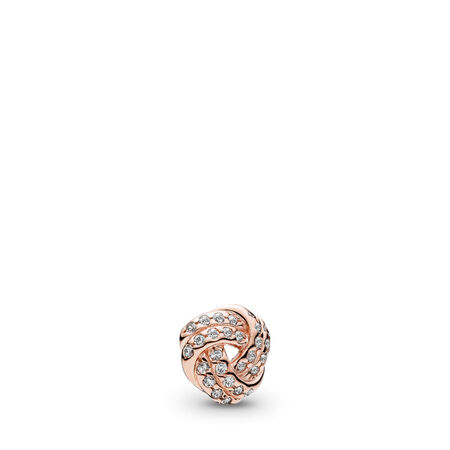 Mini destin entrelacé, PANDORA RoseMC et cz incolore, PANDORA ROSE, Aucun autre matériel, Aucune couleur, Zircon cubique - PANDORA - #782179CZ