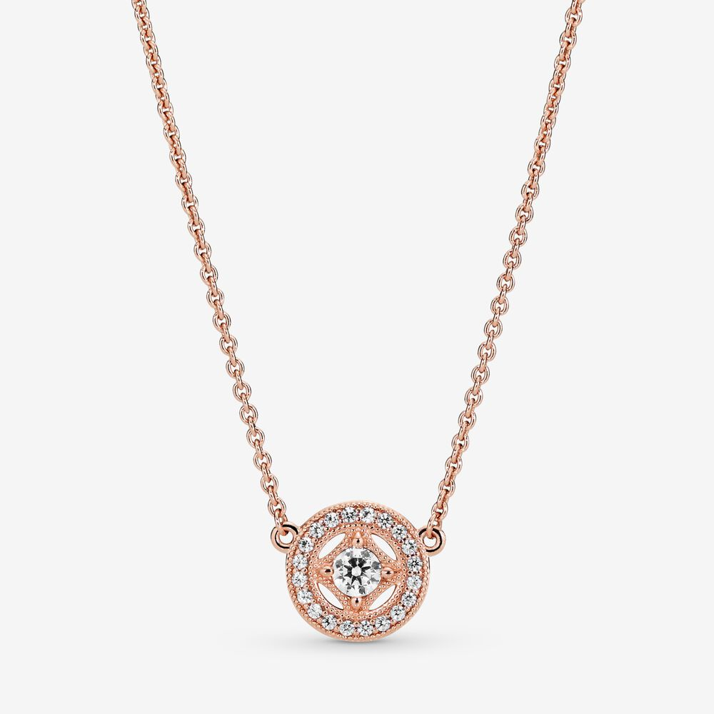 Vintage Circle Collier Necklace | Rose gold plated | Pandora Canada