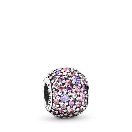 Pavé Lights, Multi-Colored CZ, Sterling silver, Pink, Cubic Zirconia - PANDORA - #791261ACZMX