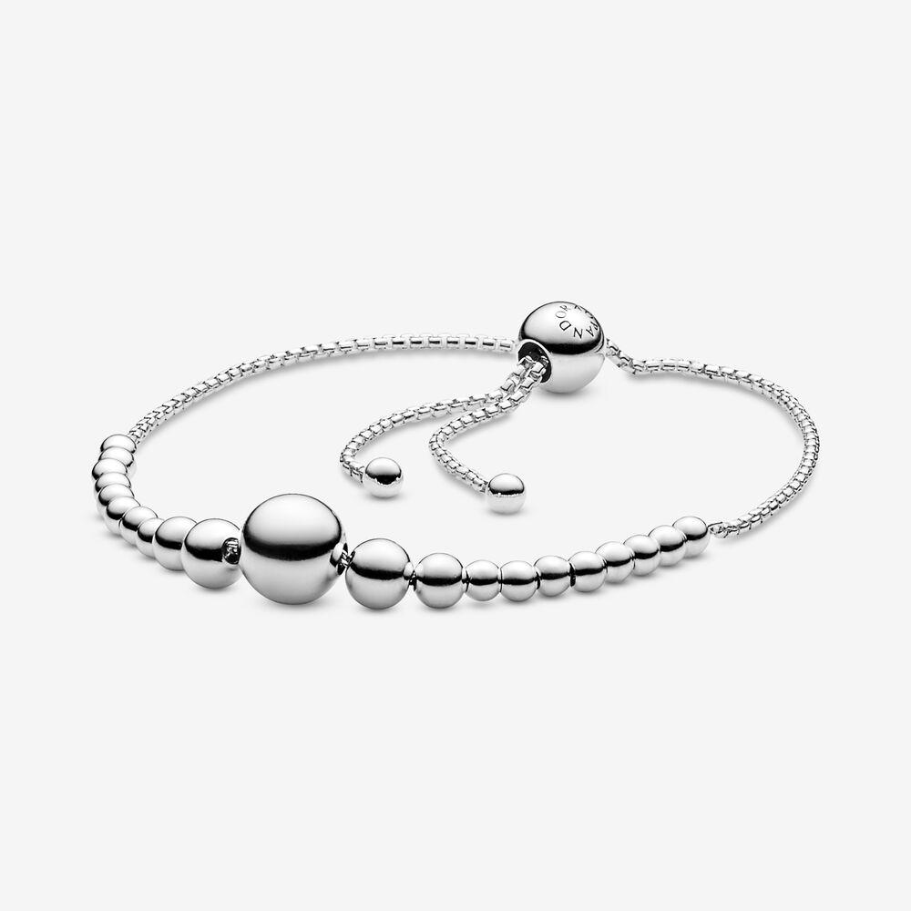 bracelet argent coulissant