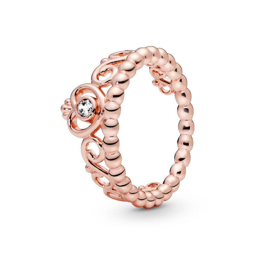 3ca14e16b Princess Tiara Crown Ring, PANDORA Rose, Cubic Zirconia - PANDORA -  #180880CZ