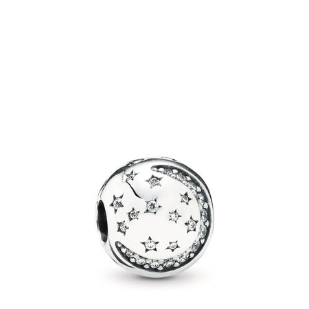 Twinkling Night Clip, Clear CZ, Sterling silver, Cubic Zirconia - PANDORA - #791386CZ