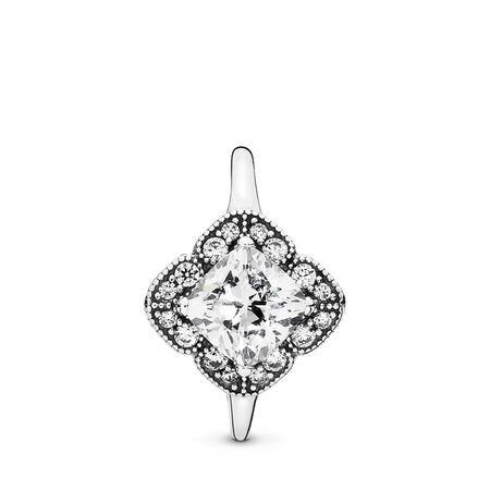 Crystalized Floral Fancy, Clear CZ