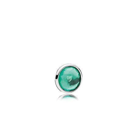 Mini gouttelette de mai, cristal vert royal