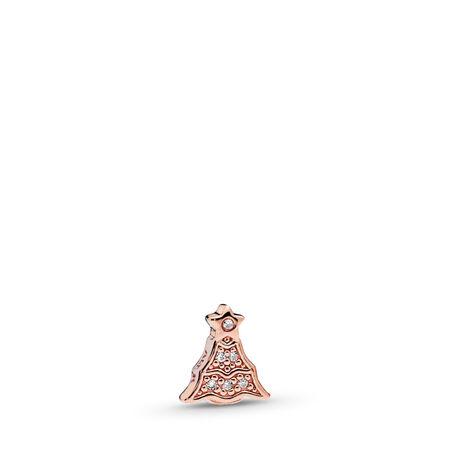 Twinkling Christmas Tree Petite Charm, PANDORA Rose™ & Clear CZ, PANDORA Rose, Cubic Zirconia - PANDORA - #786399CZ