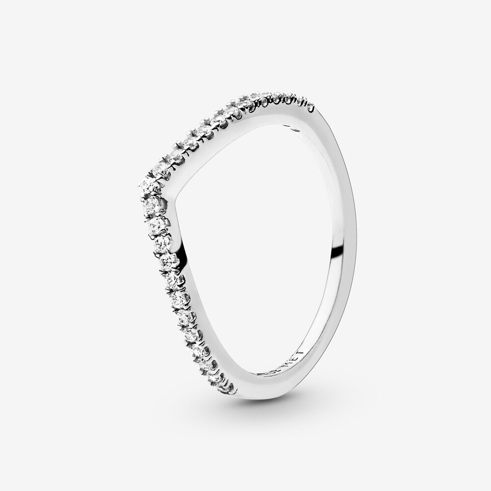 Shimmering Wish Ring with Cubic Zirconia   Argent sterling ...
