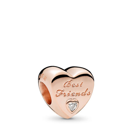 Friendship Heart, PANDORA Rose™ & Clear CZ