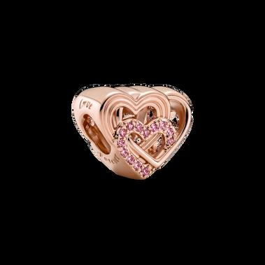 Charm Cœurs d'amour entrelacés