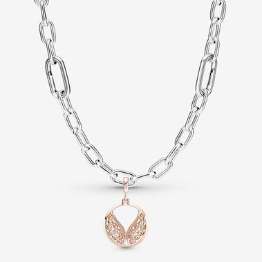 Pandora ME Burning Wings Medallion Necklace Set